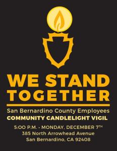 San Bernardino County Candlelight Vigil Flyer