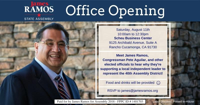 James Ramos for Assembly Kick-Off and Office Opening